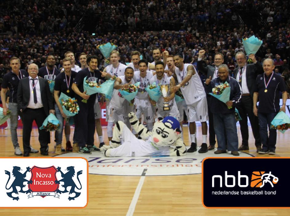 Nova Incasso feliciteert Donar met het winnen van de bekerfinale, foto van nbb: nederlandse basketball bond