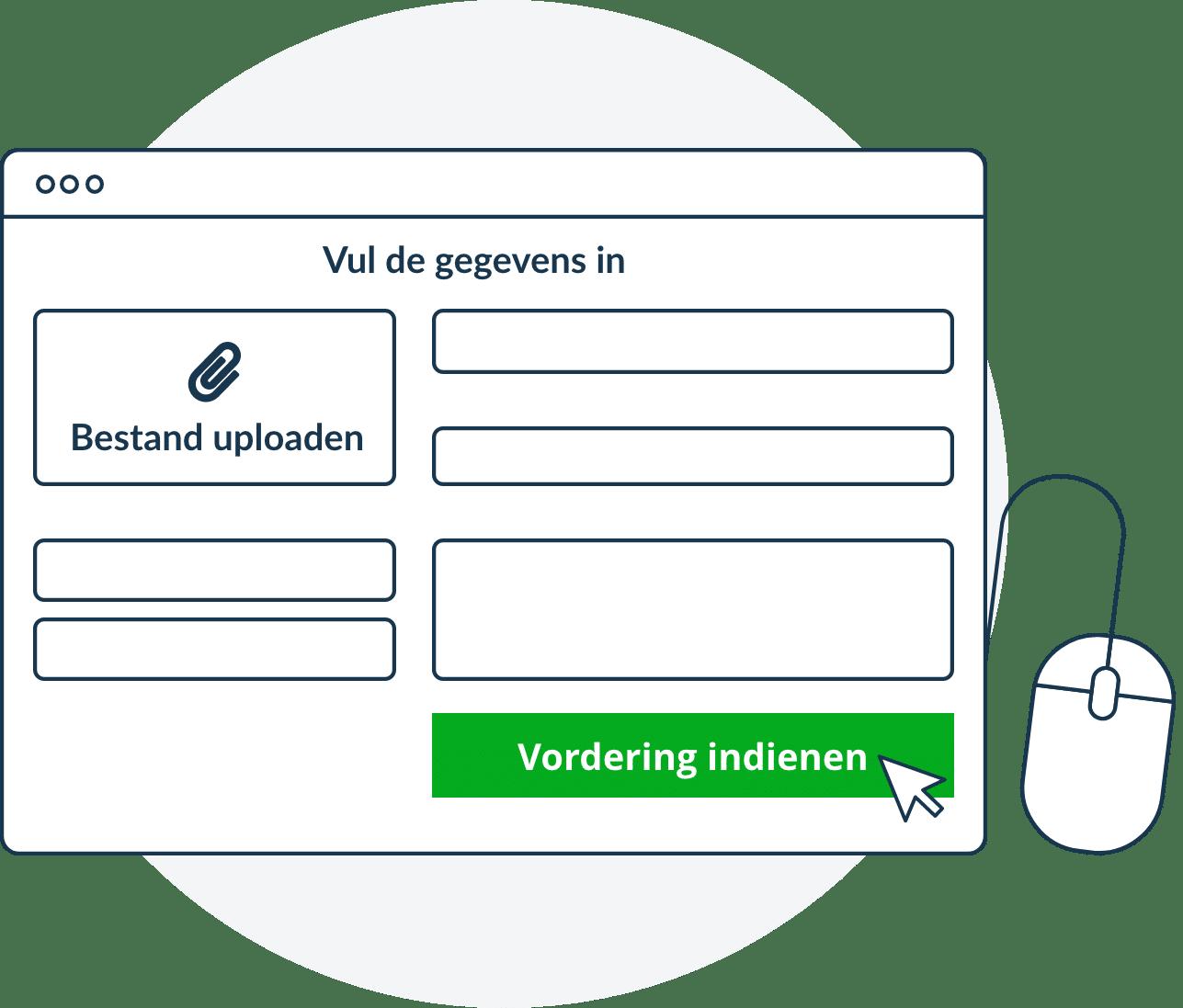 Vordering indienen bij Nova Incasso vul de gegevens in